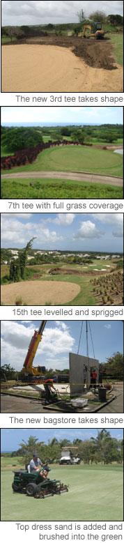 Golf course renovations summer '07